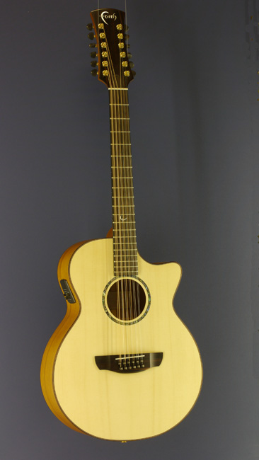 Faith Venus 12-string Guitar spruce, trembesi, cutaway, pickup
