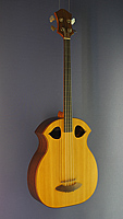 Henning Doderer acoustic bass with solid spruce top and back and sides made of solid rosewood, 82 cm scale, year 1984