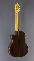 Angel Lopez, electro acoustic guitar spruce, rosewood, cutaway, pickup, back side