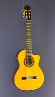 Angel Lopez, electro acoustic guitar spruce, rosewood, cutaway, pickup, narrow sides
