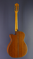 Angel Lopez, electro acoustic classical guitar cedar, mahogany, cutaway, pickup, back side