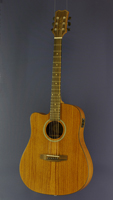 James Neligan Westerngitarre Dreadnought-Form, Mahagoni, Pickup, Cutaway