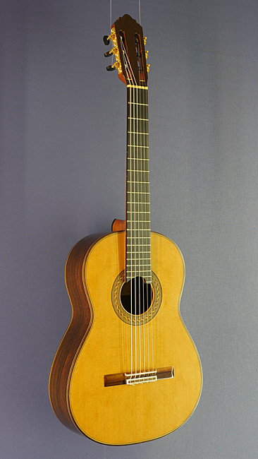 Albert & Muller, classical guitar with double top built by luthier Agron Llanaj according to concept of Antonius Müller, with sandwich cedar top (Laminatop) and rosewood back and sides scale 64 cm, year 2012