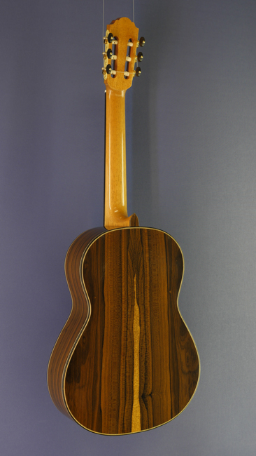 Daniele Chiesa Luthier guitar spruce, ciricote, scale 64 cm, year 2015, back view
