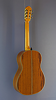 Daniele Chiesa classical guitar spruce, Madagascar rosewood, scale 65 cm, year 2017, back view