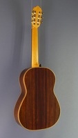 Dominik Wurth luthier guitar spruce, rosewood, scale 64 cm, year 2016, back view