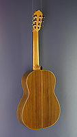 Dominik Wurth luthier guitar cedar, rosewood, scale 65 cm, year 2017, back view