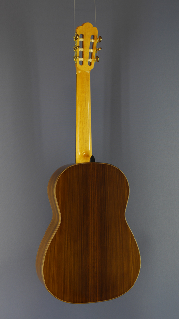 Dominik Wurth luthier guitar cedar, rosewood, year 2013, back view