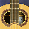 Hein Gitarrenbau luthier guitar Simplicio model, cedar, ovangcol, scale 64.5 cm, year 2016, double soundhole, rosette, label