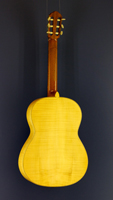 Heinz Wolfram classical guitar spruce, maple, 1967, back view