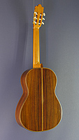Juan Lopez Aguilarte classical guitar spruce, rosewood, scale 65 cm, year 2006, back side