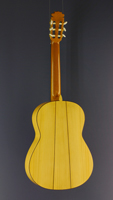 Juan Pérez Garcia Flamenco guitar cedar, cypress, scale 65 cm, back view