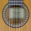 Rosette and label of Juan Pérez Garcia Flamenco guitar cedar, cypress