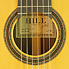 Kenneth Hill model Munich classical guitar spruce rosewood, year 2000, rosette and label