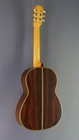Lucas Martin Luthier guitar spruce rosewood, built in 2016, back view
