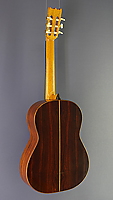 Pete Riddell classical guitar, spruce, cocobolo, scale 64,5 cm, year 2009, back view