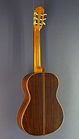 Rene Baarslag, classical guitar made of spruce and rosewood, year 1988, back view