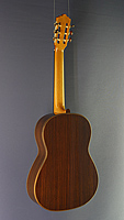 Stefanos Poligenis luthier guitar cedar, rosewood, year 2017, back side