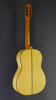 Tobias Berg fine handmade Guitar, spruce, maple, scale 64 cm, year 2015, back view