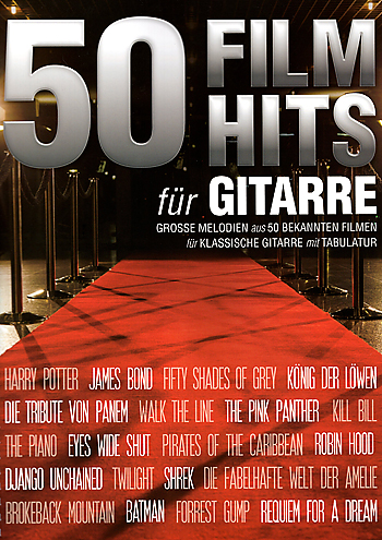 50 Filmhits for guitar, guitar sheet music