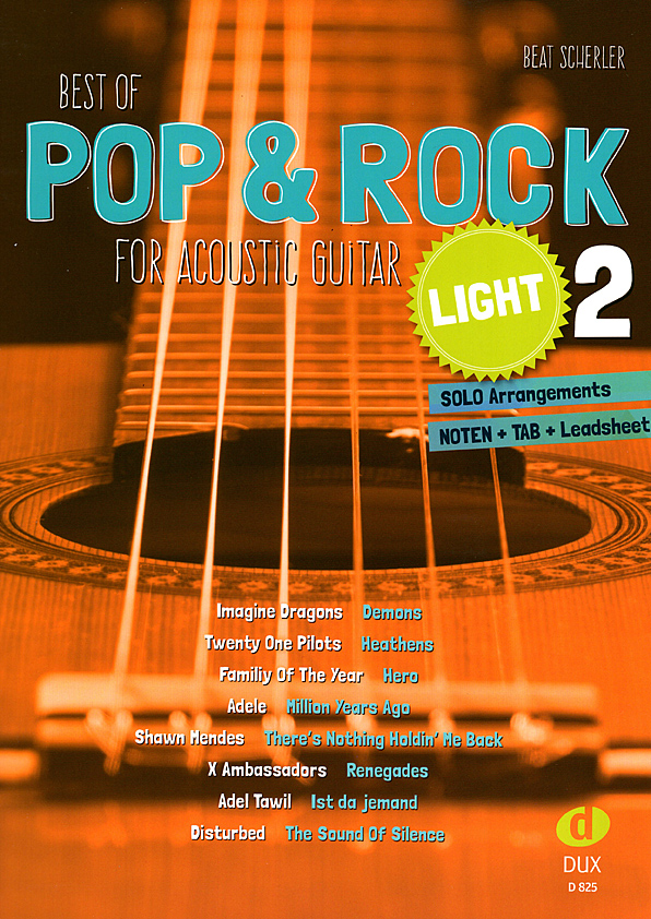 Beat Scherler, Best of Pop & Rock light Vol. 2, guitar sheet music