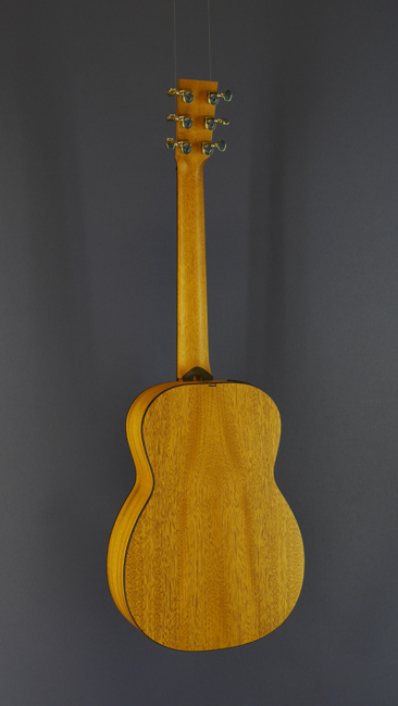 Furch little Jane Travel Guitar, Mini-Dreadnought form, steel-string, all solid, cedar, mahogany, scale 62 cm, back view