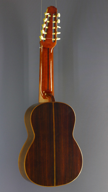 10-String classical guitar, spruce, rosewood, back side