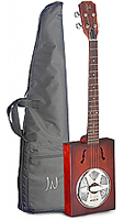 CASK Puncheon, Cigar Box Guitar with resonator, back