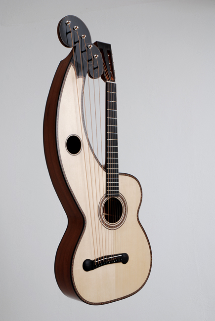 Dominik Wurth, Harp-Guitar, 11 strings, spruce, rosewood