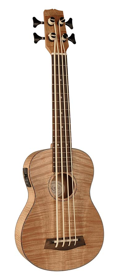 Korala Bass-Ukulele, Okume, fretted, with pickup