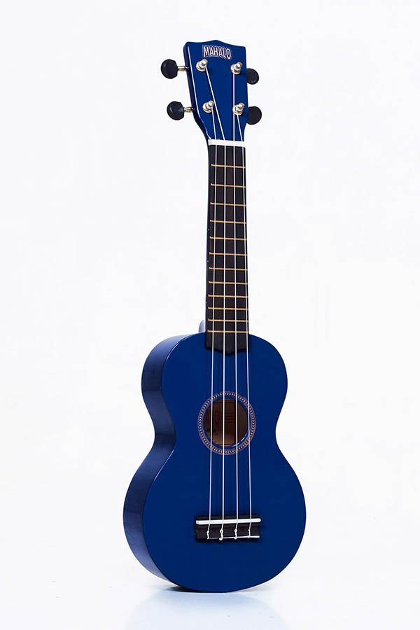 Soprano Ukulele blue, with gigbag