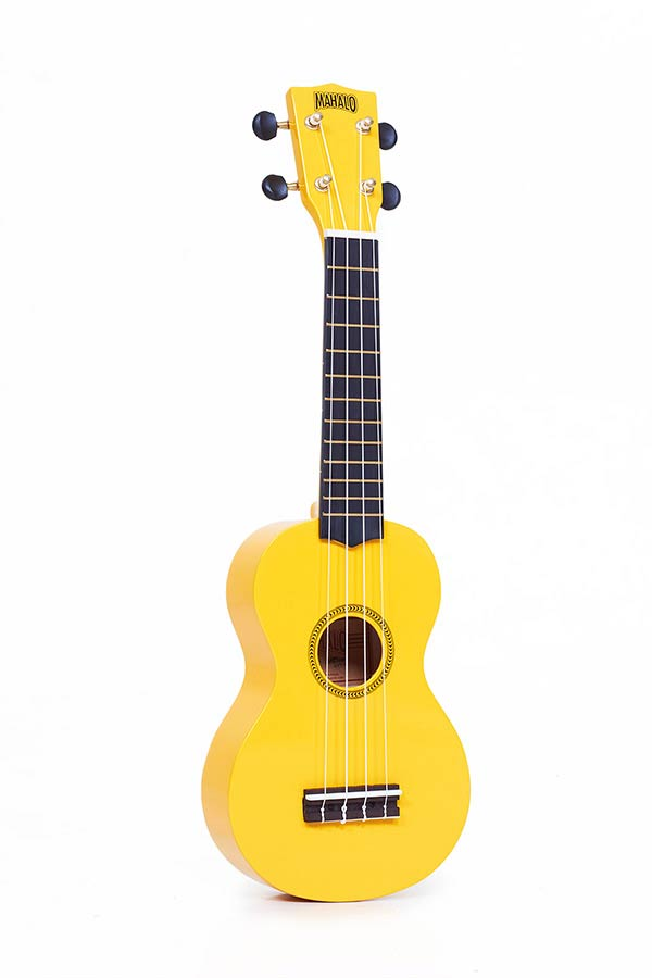 Soprano Ukulele yellow, with gigbag