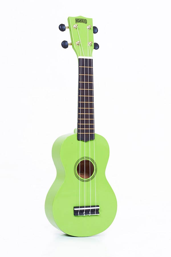 Soprano Ukulele green, with gigbag