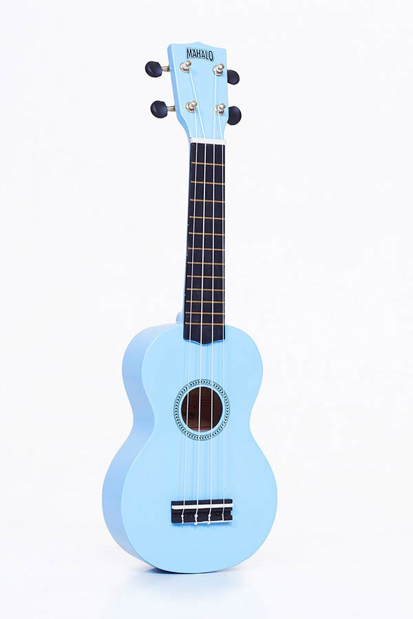 Soprano Ukulele light blue, with gigbag