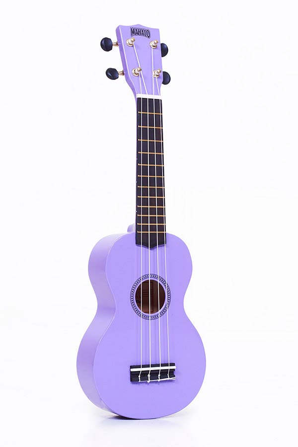 Soprano Ukulele purple, with gigbag