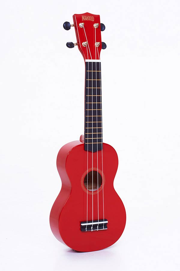 Sopran-Ukulele red, with gigbag