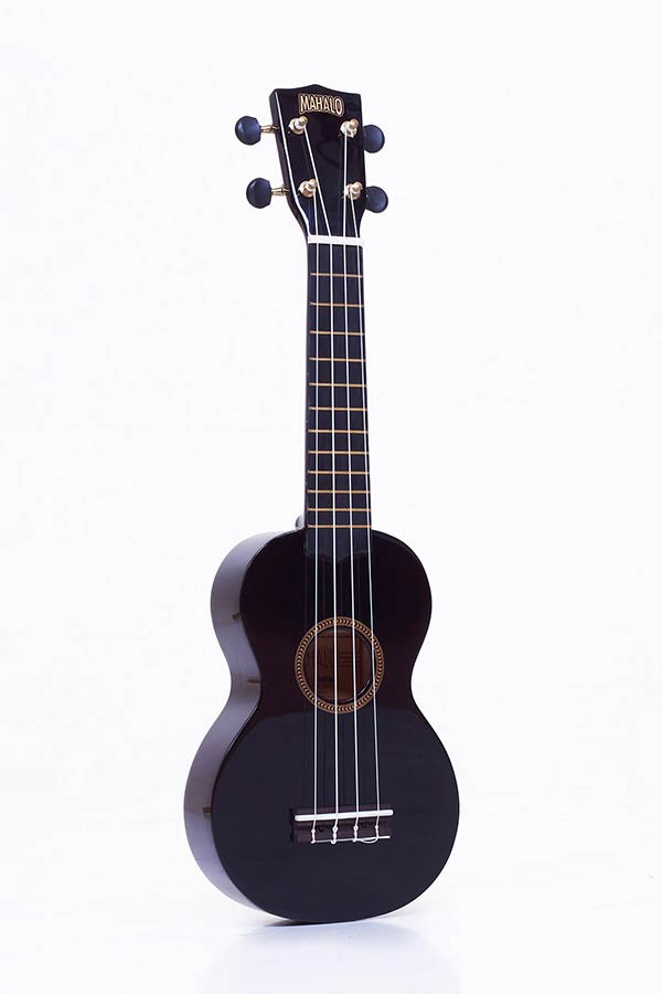 Soprano Ukulele black, with gigbag