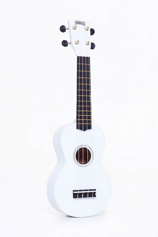 Soprano Ukulele white, with gigbag