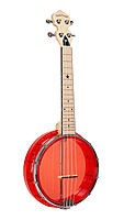 Gold Tone Concert-Ukulele-Banjo transparent red