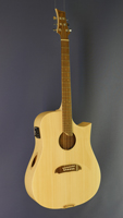 Riversong Westerngitarre, Dreadnought-Form, Adirondack Fichte, Sitka, Cutaway, Pickup