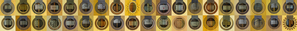 Rosettes and labels of guitar makers